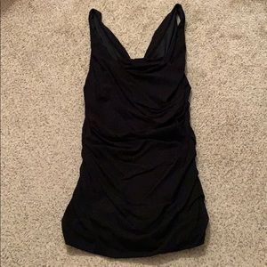 Black ruched express tank